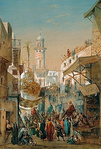 LOUIS AMABLE CRAPELET 1822-1867 RUE ANIMEE AU KAIRE