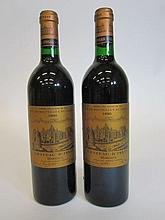 8 bouteilles CHÂTEAU D'ISSAN 1990 3è GC Margaux