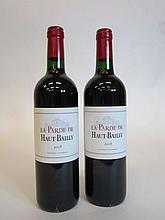 12 bouteilles LA PARDE DE HAUT BAILLY 2008 Pessac Léognan (étiquettes léger tachées)