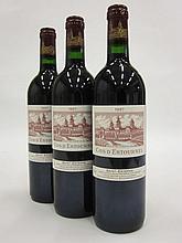 3 bouteilles CHÂTEAU COS D'ESTOURNEL 1997 2è GC Saint Estèphe
