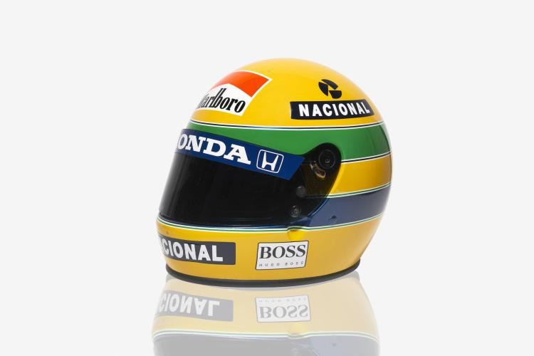 rare casque de moto personnel d 39 ayrton senna bell snell 85. Black Bedroom Furniture Sets. Home Design Ideas