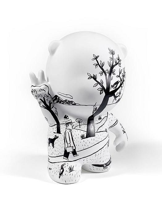 Jacques de LOUSTAL (Né en 1956) LE VOYAGE DE GUSTAVE, 2011 Sculpture en résine polyester, acrylique et encre