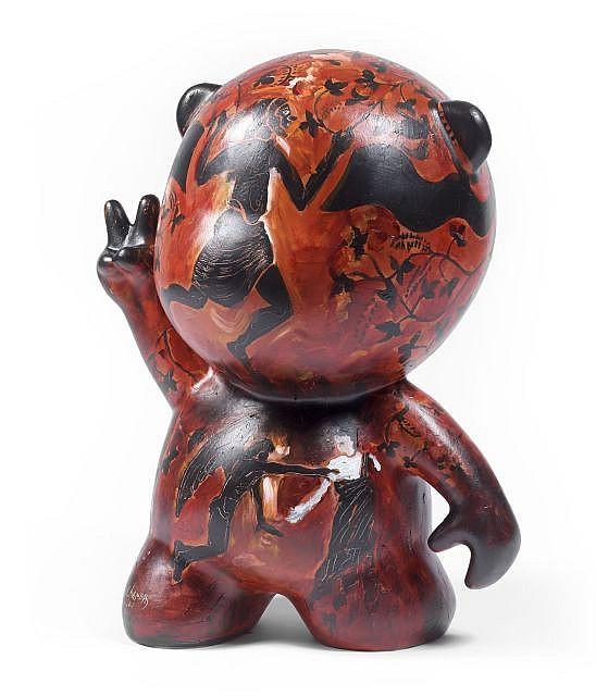 Jean-Paul CHAMBAS (né en 1947) SOUVENIRS ETRUSQUES, 2011 Sculpture en résine polyester, acrylique et technique mixte