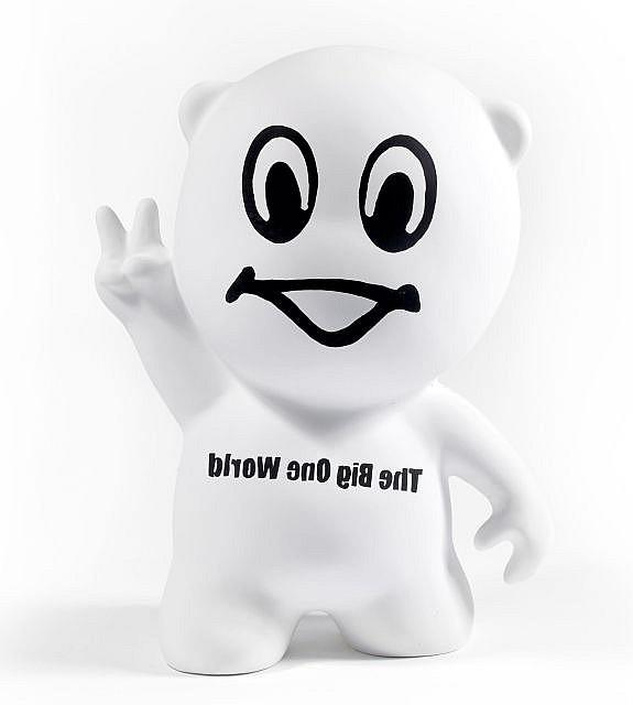 Bruno PEINADO (né en 1970) GUSTAVE, (THE BIG ONE WORLD), 2011 Sculpture en résine polyester et acrylique