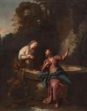 Jean-François de Troy Paris, 1679 - Rome, 1752 Le Christ et la Samaritaine Huile sur toile