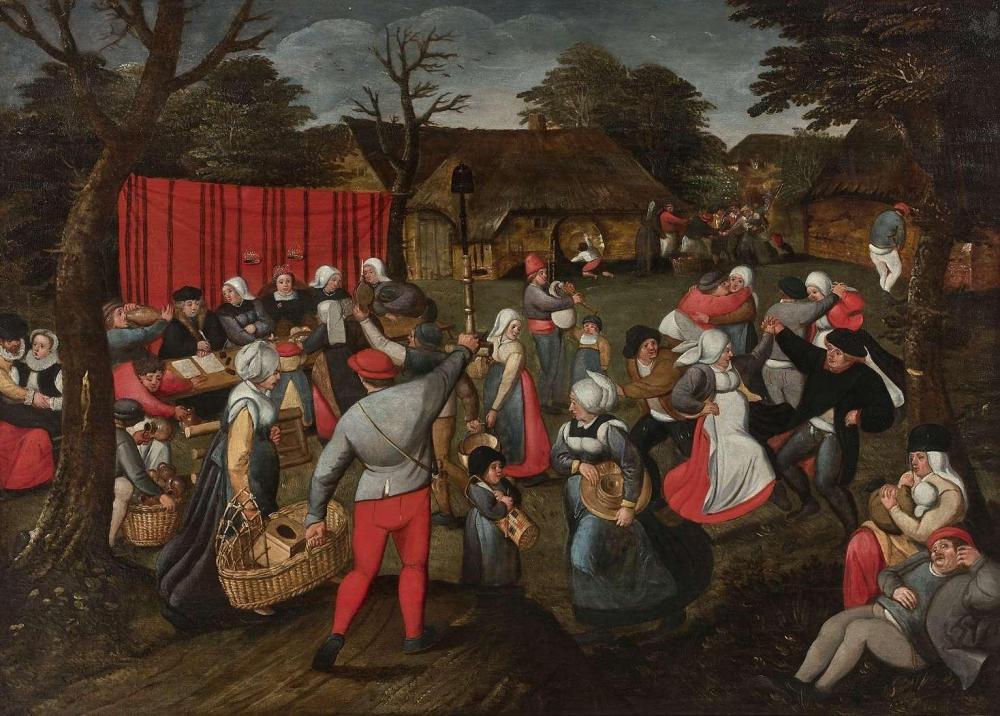 Marten van Cleve Anvers, 1527 - 1581 Noces villageoises Huil