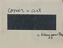 BEN (né en 1935) COPIER = ART - 1962 Collage sur carton collé sur carton