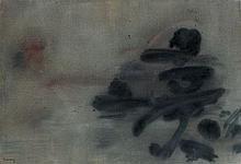 Nasser ASSAR (Né en 1928) SANS TITRE - 1961 Huile sur toile