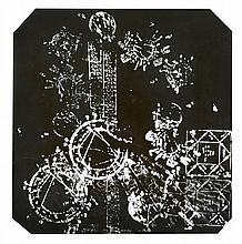 ARMAN (1928-2005) MI BERGRANO - 1963 Technique mixte et gouache sur papier