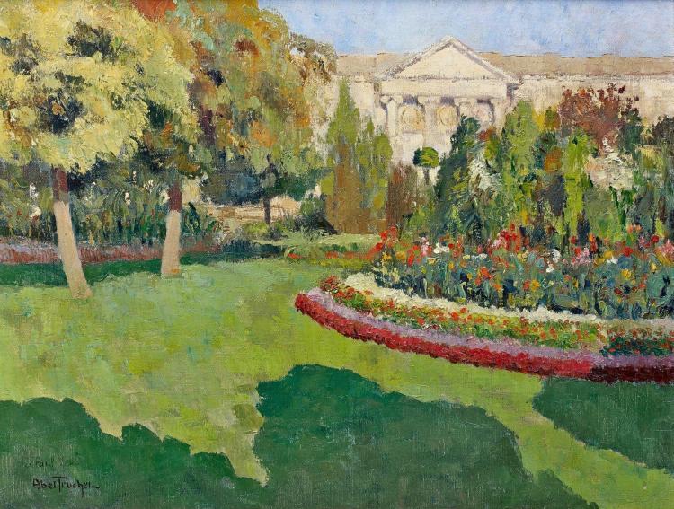 Louis abel truchet 1857 1918 le jardin en fleur huile sur for Louis jardin wine