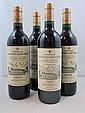 4 bouteilles 1 bt : CHÂTEAU LA MISSION HAUT BRION 1995 CC Pessac Léognan