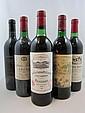 9 bouteilles 1 bt : CHÂTEAU POTENSAC 1981 CB Médoc (base goulot, étiquette sale)