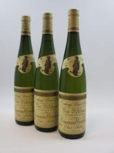 3 bouteilles ALSACE TOKAY PINOT GRIS 1989 Cuvée Sainte Catherine