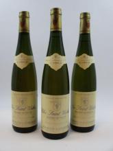 3 bouteilles ALSACE TOKAY PINOT GRIS 1990 GC Rangen de Thann