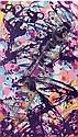 QUIK (Linwood A. Felton dit) (né en 1958) MY HEART HITS THE FAN, 2004 Peinture aérosol et vernis sur toile, Lin Felton, Click for value
