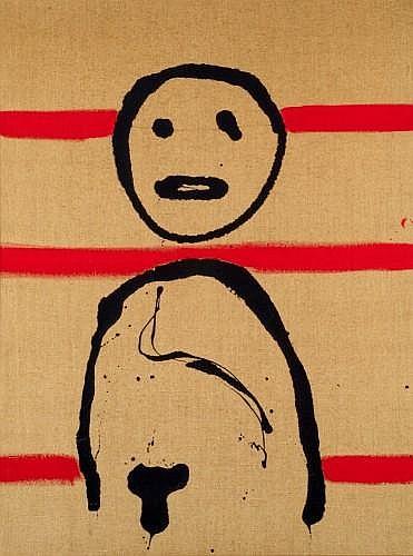 Gérard ZLOTYKAMIEN (né en 1940 -) LES EPHEMERES, 1978 Acrylique sur toile de jute