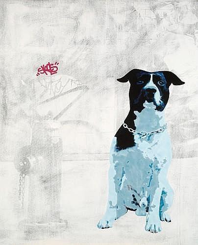 Antoine GAMARD (né en 1976) SKOOLS, 2006 Acrylique et transfert sur toile