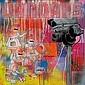 EINE (né en 1970) VANDALS WITH CAMERA, 2008 Peinture aérosol, acrylique et marker sur toile,  Eine, Click for value