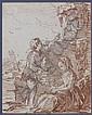Johann Eleazar Zeizig, dit Schenau Gross Schenau, 1737 - Dresde, 1806 Les jeunes dénicheurs Sanguine sur trait de crayon noir, Johann Eleazar Schenau, Click for value