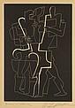 Ossip ZADKINE (1890 - 1967) L'HOMME CHAT, 1962 et DERAIN AUX YEUX GRIS COMME L'AUBE ..., 1967