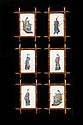 ENSEMBLE DE SIX PEINTURES SUR PAPIER DE RIZ, CHINE, CANTON, CIRCA 1900-1910