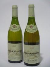 2 bouteilles BATARD MONTRACHET 1995 Grand Cru