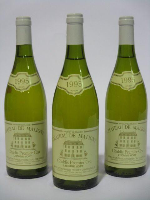 6 bouteilles CHABLIS 1995 1er cru L'Homme Mort