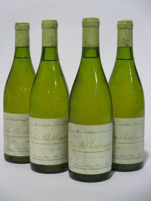 4 bouteilles CORTON CHARLEMAGNE 1989 Grand Cru