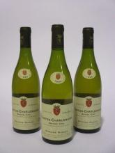3 bouteilles CORTON CHARLEMAGNE 1999 Grand Cru
