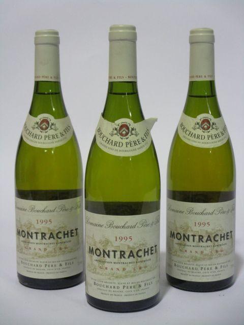 3 bouteilles MONTRACHET 1995 Grand Cru