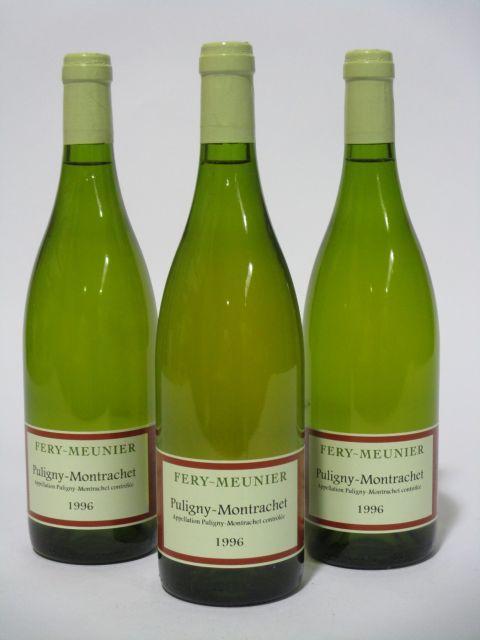 6 bouteilles PULIGNY MONTRACHET 1996 Fery-Meunier (cave 6)