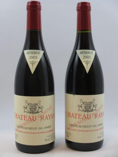 2 bouteilles 1 bt :  CHÂTEAU RAYAS 2005 Châteauneuf du Pape