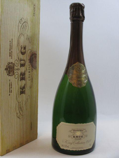 1 bouteille CHAMPAGNE KRUG 1981 Collection