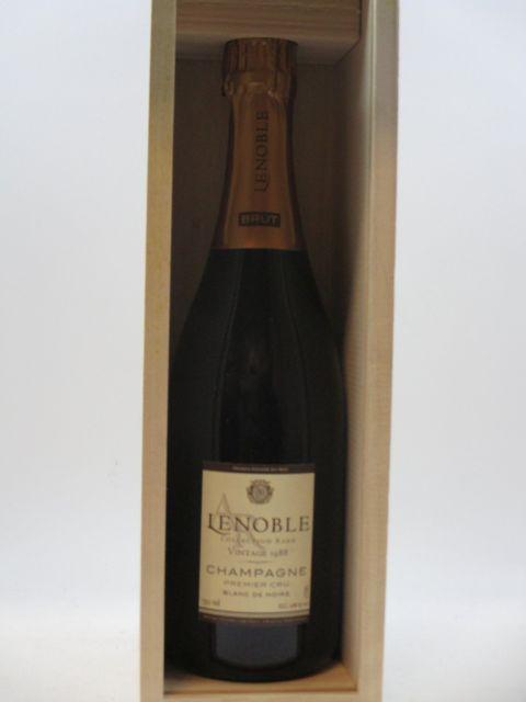 1 bouteille CHAMPAGNE LENOBLE 1988 1er cru Blanc de Noirs