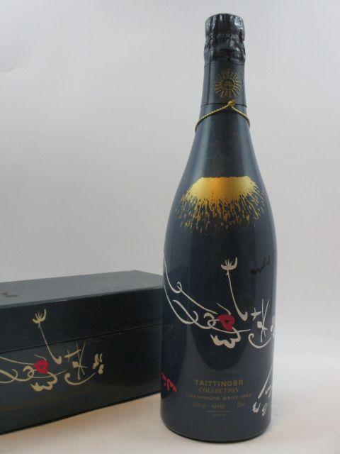 1 bouteille CHAMPAGNE TAITINGER 1982 Collection André Masson Etui d'origine (abimé)
