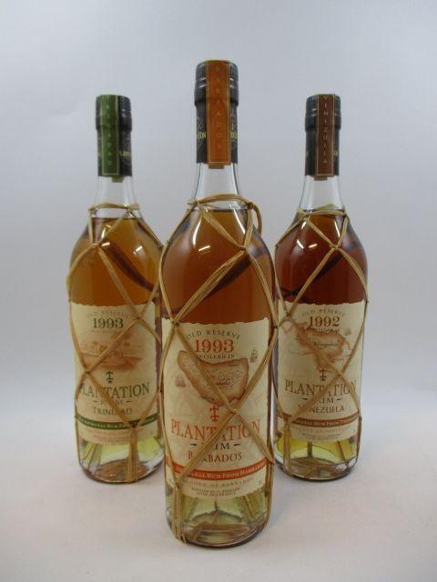 3 bouteilles 1 bt : RHUM C.FERRAND 1993 Barbados. Old Reserve (70 cl, 45°)
