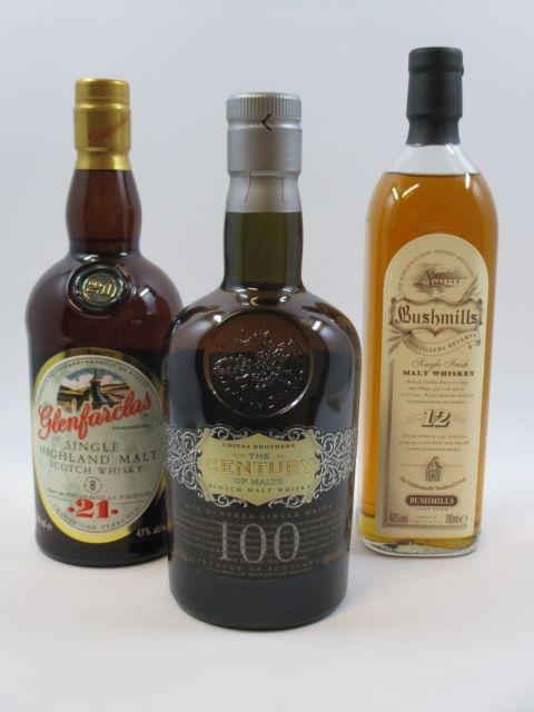 4 bouteilles 1 bt : WHISKY CHIVAS BROTHERS The Century of Malts. Scotch Malt Whisky. One Hundred Single Malts (70 cl, 40°)