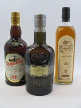4 bouteilles 1 bt : WHISKY CHIVAS BROTHERS The Century of Malts. Scotch Malt Whisky. One Hundred Single Malts (70 cl, 40°)