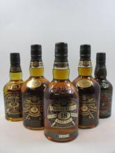 4 bouteilles 1 bt : WHISKY CHIVAS REGAL 12 years old. Scotch Whisky (50 cl, 40°)