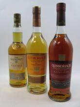 3 bouteilles 1 bt : WHISKY THE GLENLIVET 1991 Nadurra, non Chill-Filtered. (bottled 03/10) Single Malt Scotch Whisky (70 cl, 48°)