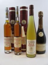 4 flacons 1 demi : COGNAC FRAPIN 1986 Domaine Château de Fontpinot. Single Estate. Grande Champagne 1er cru de Cognac. 20 ans d'age (3