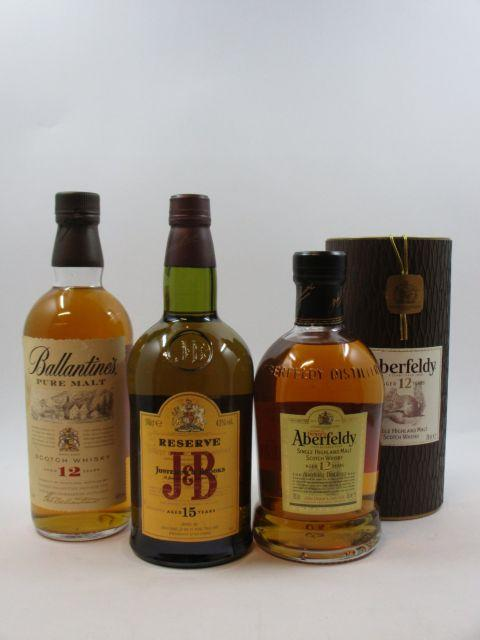 4 bouteilles 2 bts : WHISKY ABERFELDY 12 years old. SHMSW (70 cl, 40°)