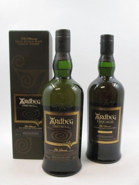 3 bouteilles 2 bts : WHISKY ARDBEG Corryvreckan. Islay Single Malt Scotch Whisky (70 cl, 57,1°)