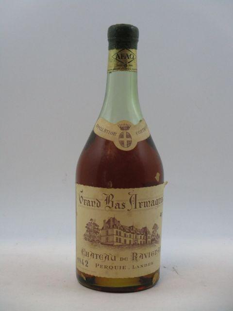 1 bouteille BAS ARMAGNAC 1942 Château de Ravignan (haute épaule