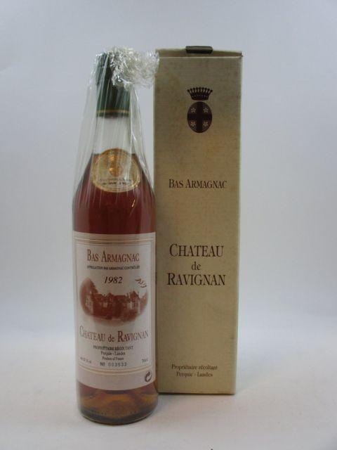 1 bouteille BAS ARMAGNAC CHÂTEAU RAVIGNAN 1982 (mis en bouteillle en Avril 1997