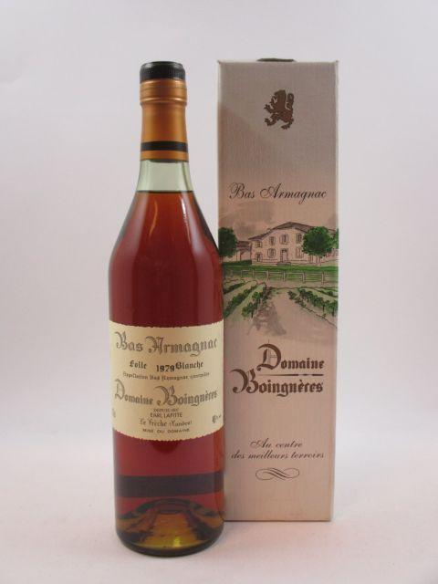 1 bouteille BAS ARMAGNAC DOMAINE BOIGNERES 1979 Folle Blanche (mis en bouteille en Novembre 1997