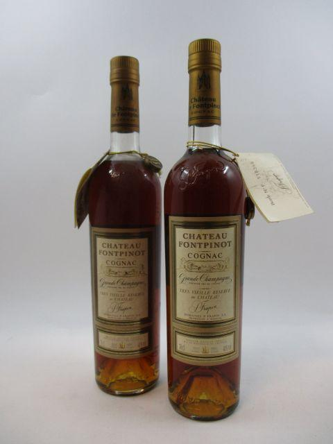 2 bouteilles COGNAC FRAPIN Château Fontpinot
