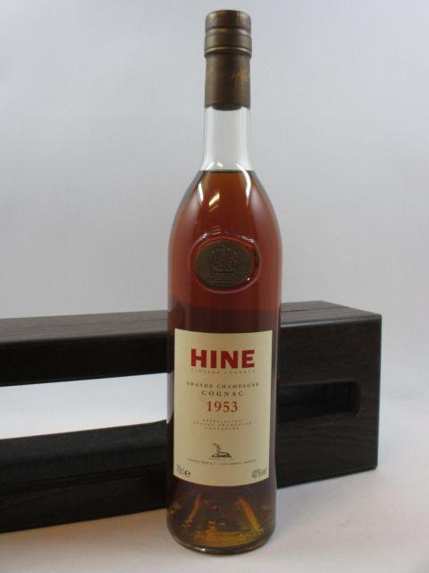 1 bouteille COGNAC HINE 1953 Grande Champagne (70 cl