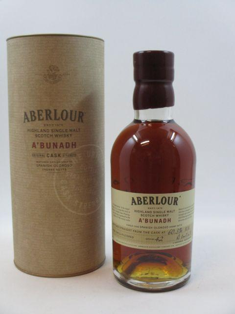 1 bouteille WHISKY ABERLOUR Bottled Straight from cask 60,3%