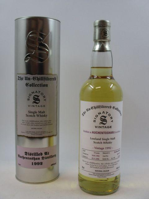 1 bouteille WHISKY AUCHENTOSHAN 1992   Lowland Single Malt Scotch Whisky